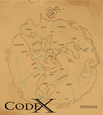 Map - CodeX comic